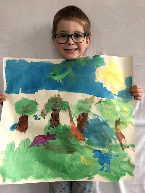 Charlie's dinosaur picture