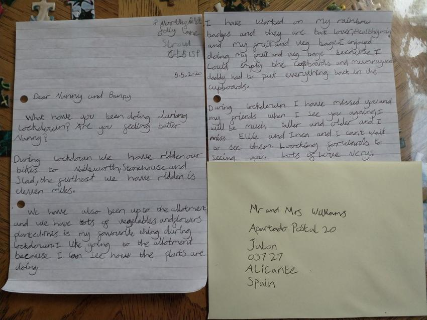 A lovely letter Nerys wrote to her Grandma