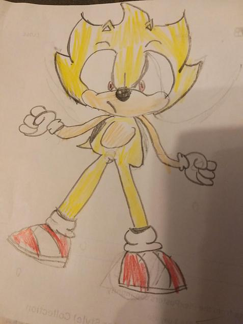 Charlie Phelps drawing of Sonic