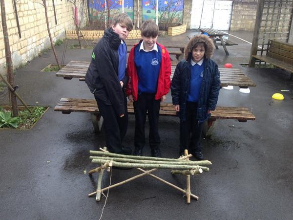 We made these benches...