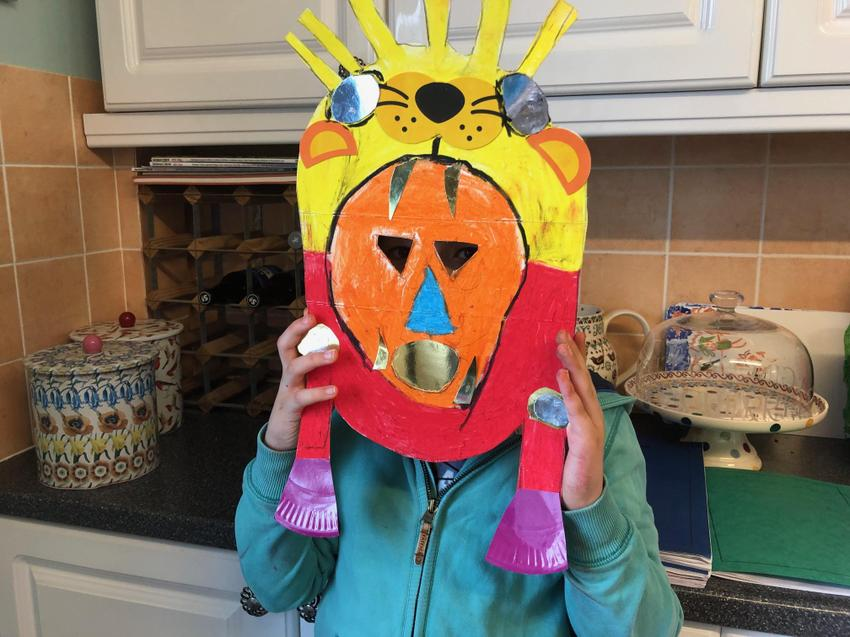 Another impressive mask-Morgan in is under there!