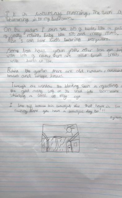 Lovely description writing from Noah.