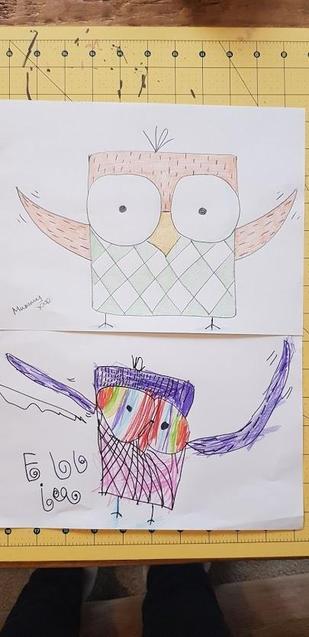 Ellie's lovely owl drawing