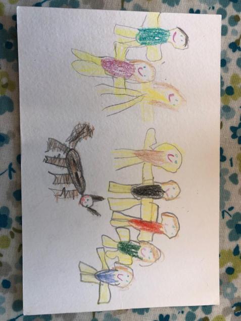 Isobella's postcard for her Great Grandma