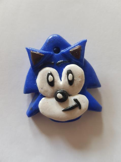 Charlie made a clay Sonic