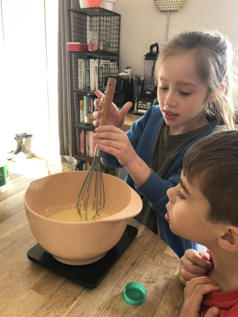 Busy whipping up delicious (packet) recipes