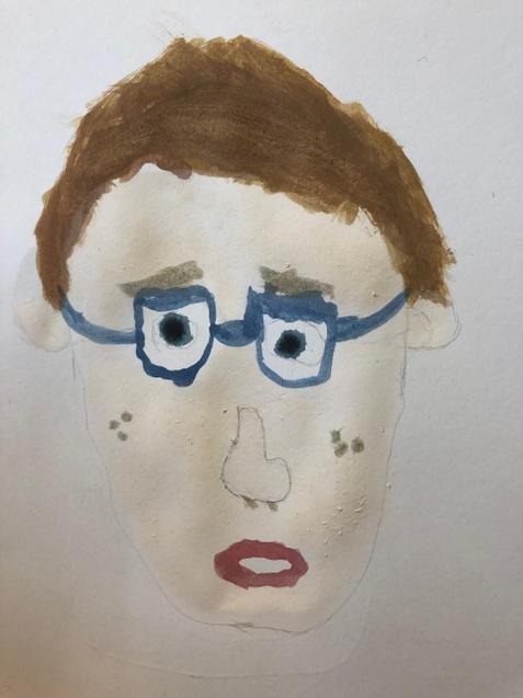 Morgan's super self-portrait