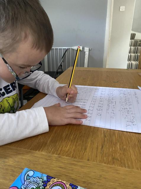 Finley working hard on his numbers.