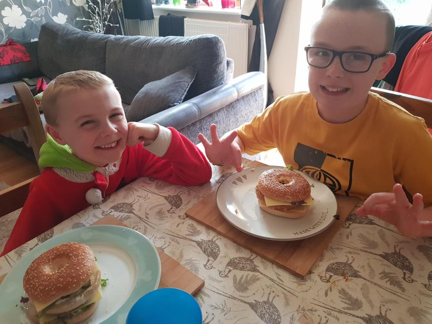 Charlie and Finley, our very own Burger Kings!
