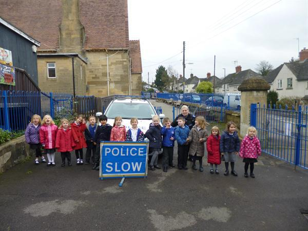 A visit from a police car