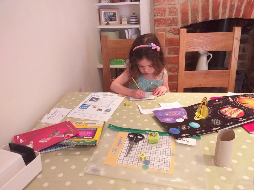 Daisy has been busy teaching her mum about space.