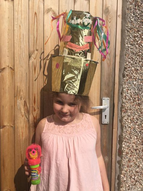 Hollie's robot hat for any occassion!
