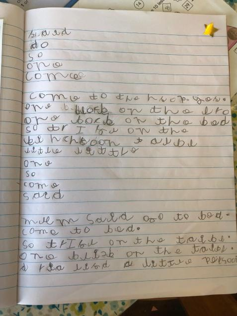 Lovely writing from Croft School!