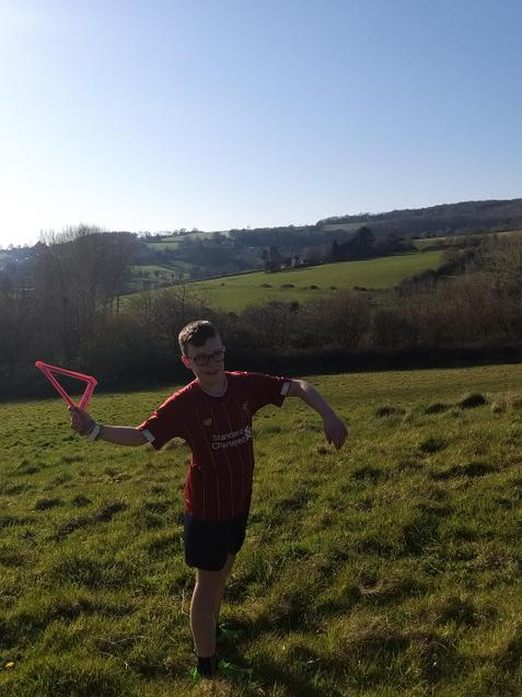 Finley enjoying the sunshine.