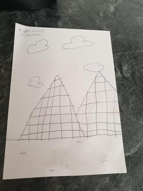 Kyra has drawn some great pyramids.