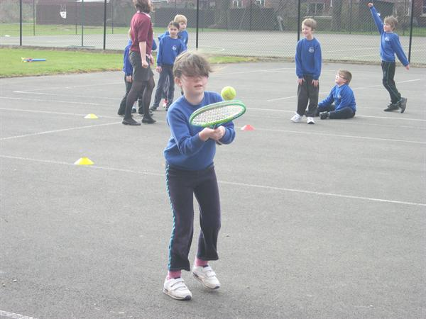 ...did ball skills with tennis...