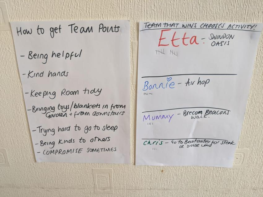 Etta and Bonnie have a new house point system.