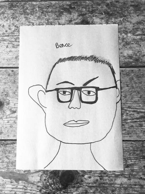 A brilliant self-portrait by Bence