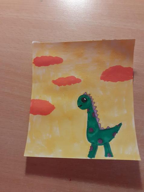 Eleanor's lovely dinosaur art challenge