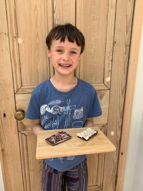 A delicious chocolate bar made by Noah
