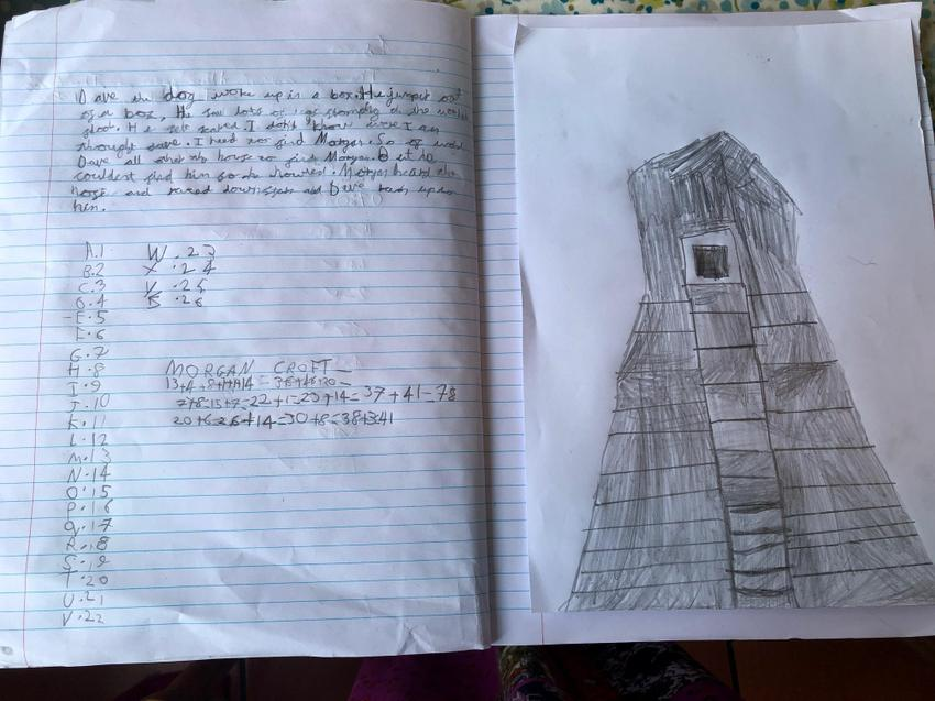 Morgan's Mayan temple and a short story.