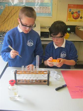 Year 6 went to do some science at Marling School