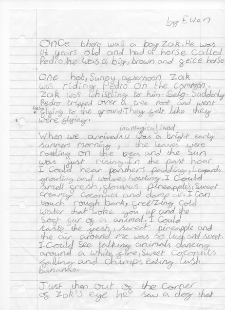 Ewan's brilliant descriptive story