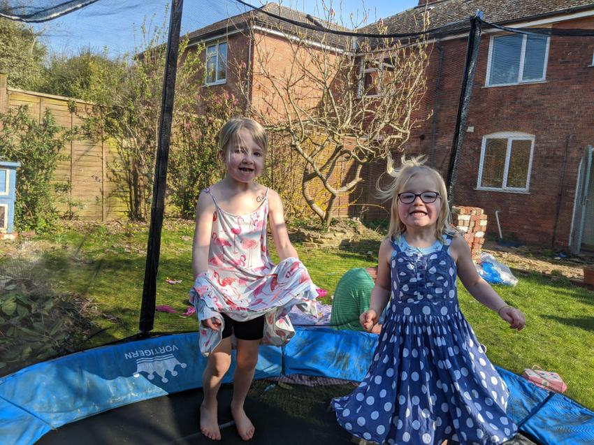P.E. on a trampoline- what a great idea!