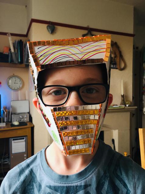 Look at Bence's impressive mask!