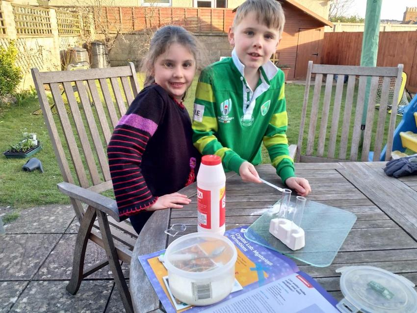 Nerys and Ewan have been doing science experiments