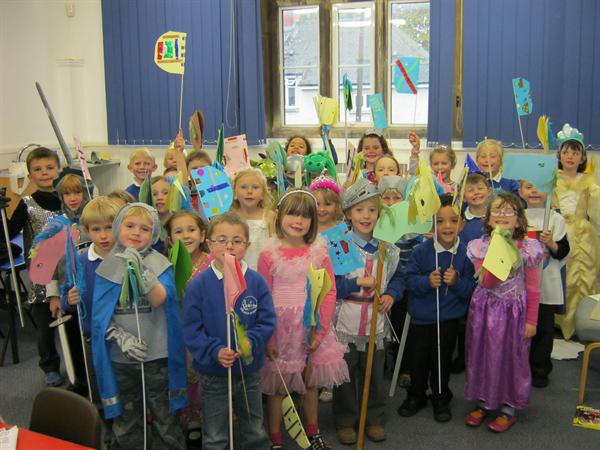 Dressing up for our knights' challenge!