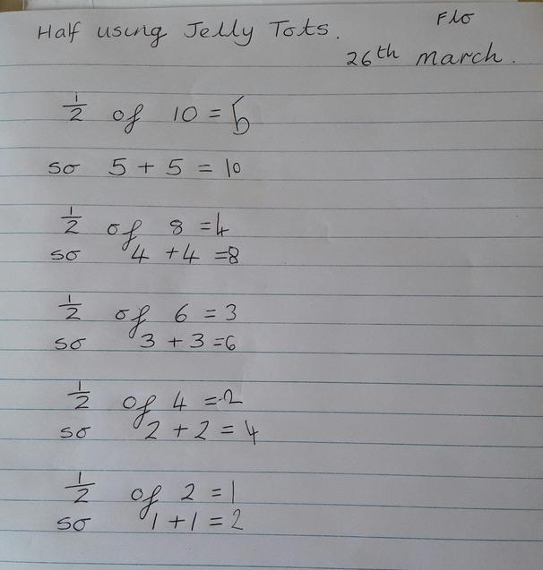Some brilliant maths about jelly tots. Yum
