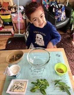 Phoebe making ravioli