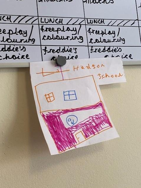 Freddie has created his own school and timetable.