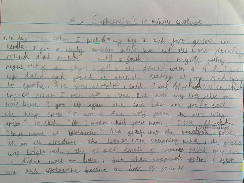 Super writing by Aidan