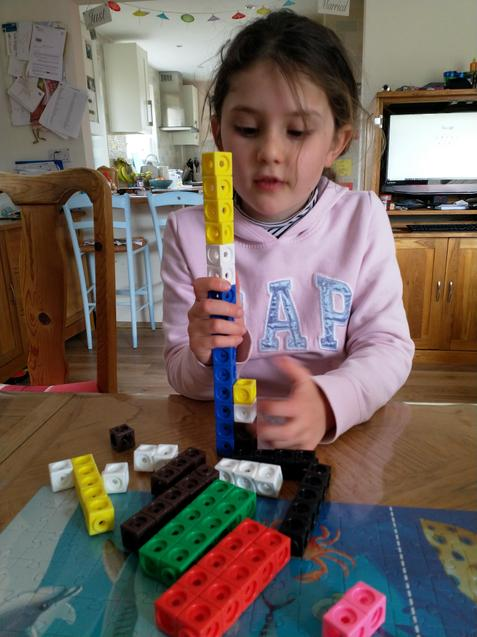 Nerys doing some maths