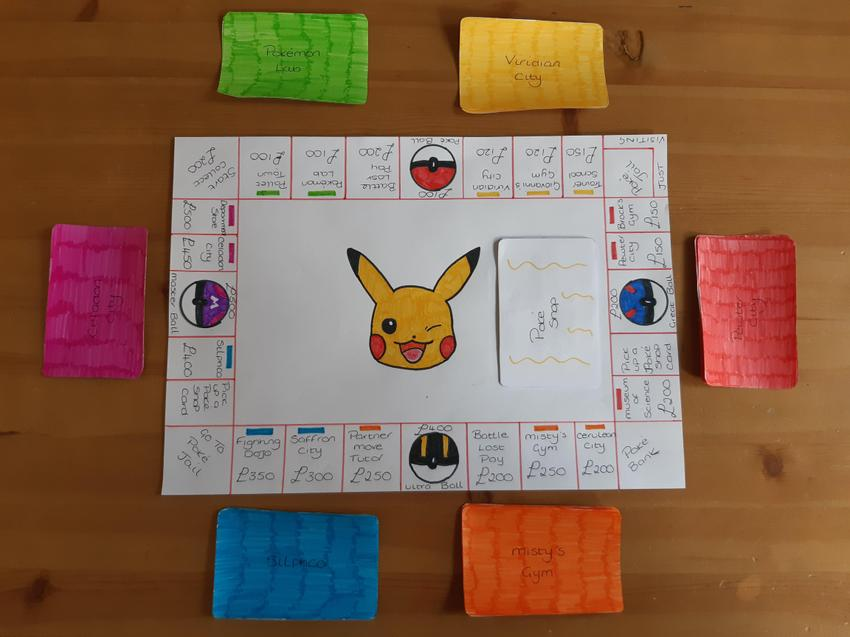 Tate has made  his own version of Pokemon Monopoly