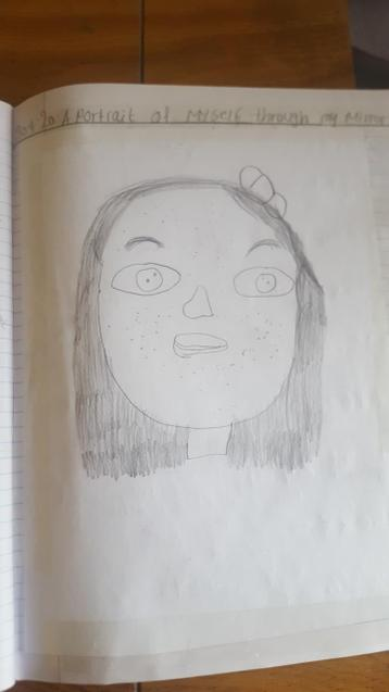 A self-portrait by Eva-Grace