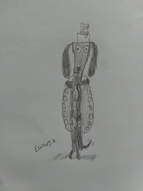 Great drawings by Ewan inspired by 'draw with Rob'