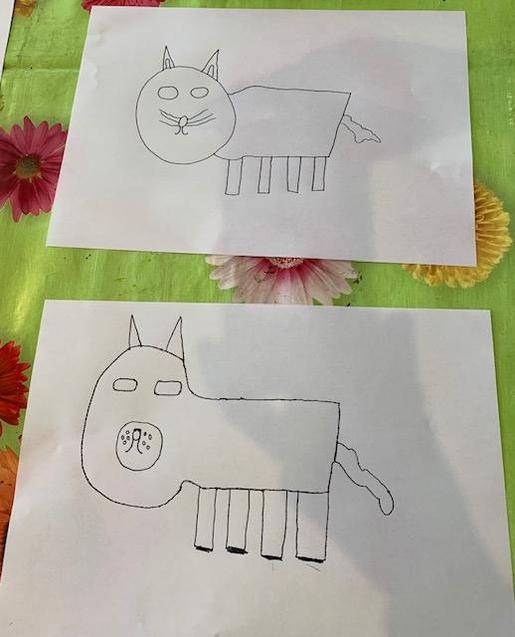 Lovely drawings by Jess and McKenzie