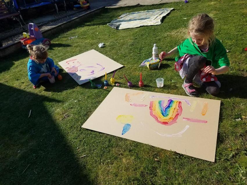 Ariella making a rainbow.