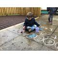 Exploring through art outdoors