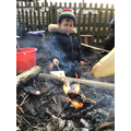 Making Toast at Forest school