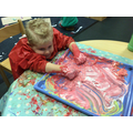 Exploring mixing colours