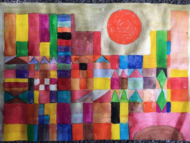 Inspired by Paul Klee's 'Castle and sun'