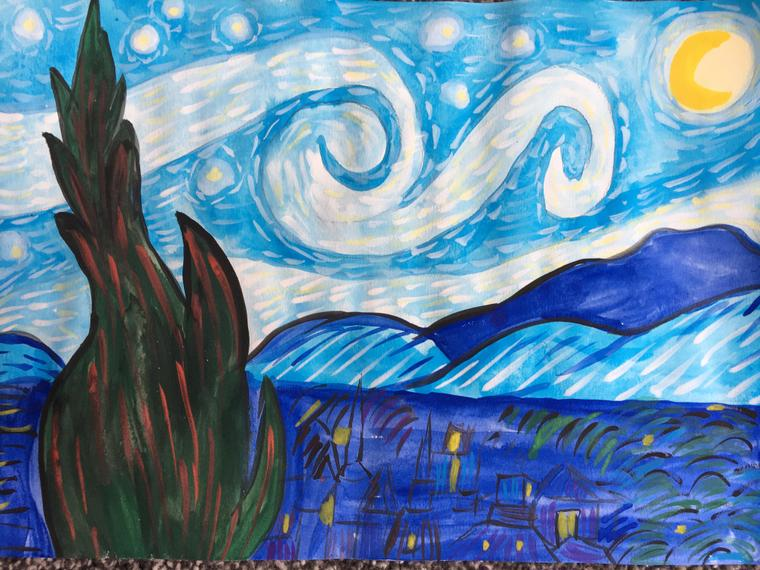 Inspired by Van Gogh's 'Starry Night'