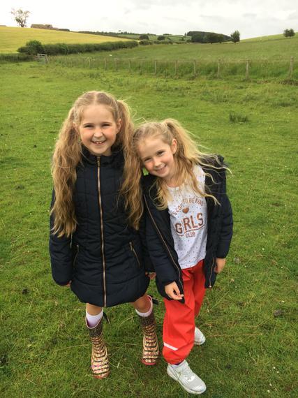 A run round a muddy field in the wind!