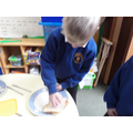 4 Put the slice of bread onto the slice with  jam