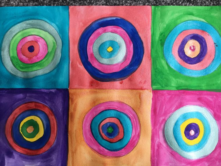 Inspired by Kandinsky's concentric circles