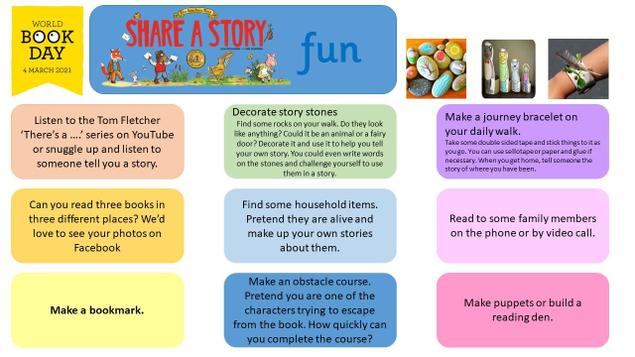 You can choose any of these optional activities to do throughout the day.